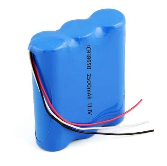 18650 Li-ion 2500mAh 11.1v 3S1P Battery Pack