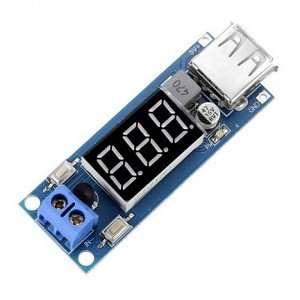 DC-DC 4.5-40V To 5V 2A USB Charger Step down Converter Voltmeter Module