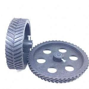 Black Robot Wheel 10x2 cm