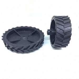 Black Robot Wheel 7x2 cm