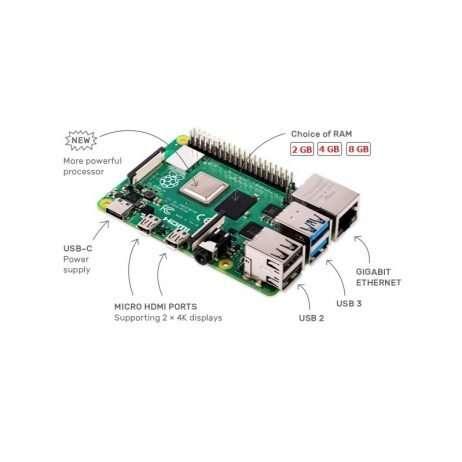PacRaspberry Pi 4 Model-B with 8 GB RAM.